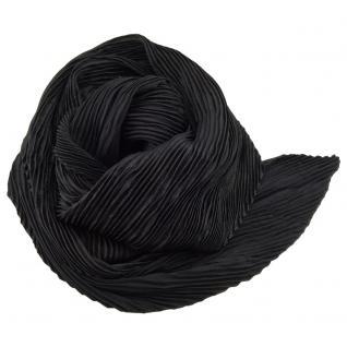 Damen Satin Raffschal dehnbar schwarz ca. 80 x 70 cm - Tuch Halstuch Schal
