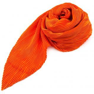 Damen Satin Raffschal dehnbar orange ca. 80 x 70 cm - Tuch Halstuch Schal