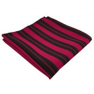 schönes Einstecktuch in schwarz rot gestreift - Tuch 100% Polyester