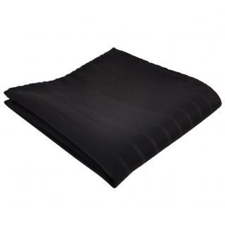 schönes Einstecktuch in schwarz gestreift - Tuch 100% Polyester