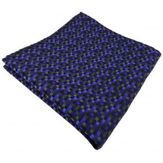 schönes Einstecktuch in blau dunkelblau schwarz anthrazit grau gemustert