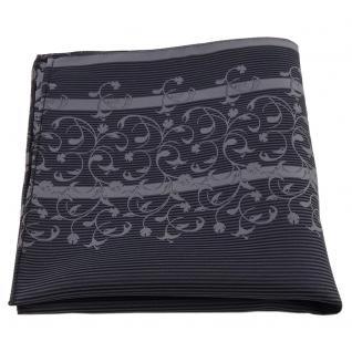 Einstecktuch in anthrazit grau dunkelgrau gestreift Ornamente - Tuch Polyester