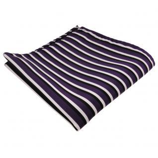 schönes Einstecktuch in lila dunkellila schwarz weiß - Tuch 100% Polyester