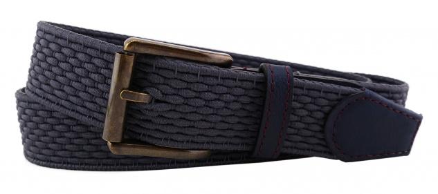 TigerTie - Stretchgürtel in grau dunkelgrau einfarbig - Bundweite 100 cm