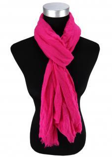 Damen Chiffon Halstuch in pink magenta Uni Gr. 180 cm x 50 cm - Tuch Schal