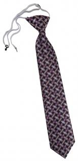 TigerTie Security Sicherheits Krawatte rosa lachs schwarz - Motiv Flechtmuster