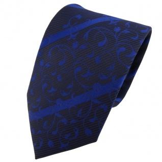 TigerTie Designer Krawatte blau dunkelblau schwarz gestreift - Schlips Tie