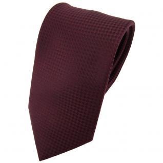Designer Seidenkrawatte braun bordeauxbraun gepunktet - Krawatte Seide Binder