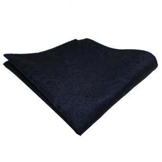 TigerTie Einstecktuch blau dunkelblau royal Paisley - Tuch Polyester