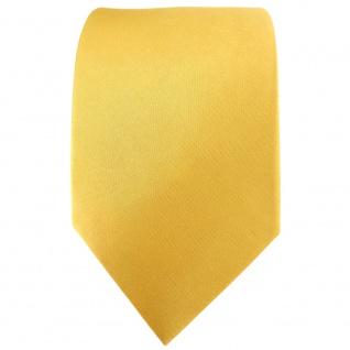 TigerTie Satin Seidenkrawatte gold hellgold einfarbig Uni - Krawatte 100% Seide - Vorschau 2