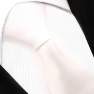 TigerTie Security Satin Seidenkrawatte in creme weiß cremeweiß uni mit Gummizug - Vorschau 5