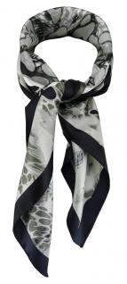 TigerTie Damen Nickituch Halstuch in grau silber schwarz olivstich gemustert