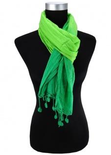 Halstuch in grün giftgrün Gr. 180 cm x 50 cm - Tuch Schal Baumwolle