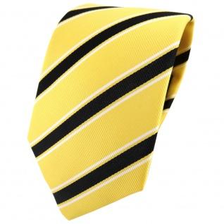 TigerTie Designer Krawatte gelb schwarz weiß gestreift - Binder Tie