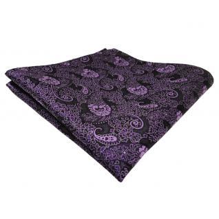 TigerTie Einstecktuch lila violett flieder Paisley - Tuch Polyester