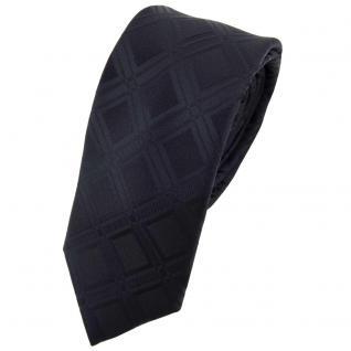 Schmale Designer Seidenkrawatte schwarz schwarzbraun gemustert - Krawatte Seide Binder