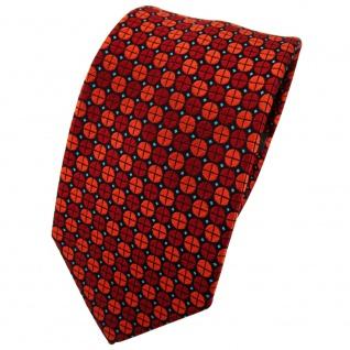 Enrico Sarto Seidenkrawatte orange dunkelorange türkis gepunktet - Krawatte Tie