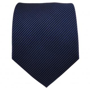 TigerTie Seidenkrawatte blau dunkelblau schwarz gestreift - Krawatte Seide Silk - Vorschau 2
