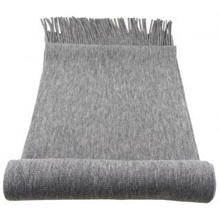 Raschel Designer Schal in grau hellgrau einfarbig Uni - Strickschal