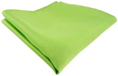 TigerTie Satin Seideneinstecktuch in hellgrün einfarbig -Einstecktuch 100% Seide