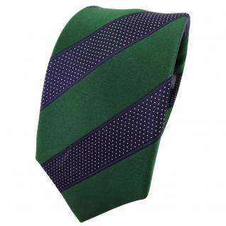 Enrico Sarto Seidenkrawatte grün blau silber gestreift - Krawatte Seide Tie