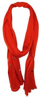 TigerTie Schal in orange einfarbig mit Nieten gemustert