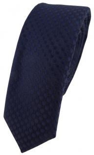 Modische schmale TigerTie Designer Krawatte in marine dunkelblau gepunktet