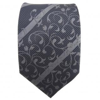 TigerTie Designer Krawatte anthrazit grau dunkelgrau gestreift - Schlips Tie - Vorschau 2