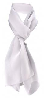 TigerTie Damen Chiffon Halstuch silber grau Uni Gr. 160 cm x 36 cm - Schal