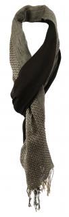 TigerTie Designer Schal in dunkelbraun braun beige grau gemustert - 180 x 50 cm