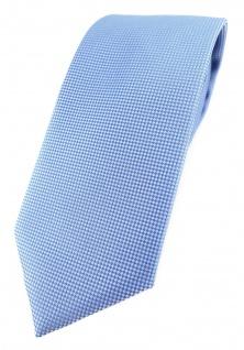 Modische TigerTie Designer Krawatte in hellblau fein gepunktet