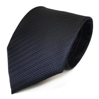 TigerTie Designer Krawatte in dunkelblau marine gestreift - Schlips Binder Tie