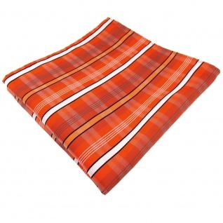 Einstecktuch orange verkehrsorange weiß schwarz grau gestreift - Tuch Polyester