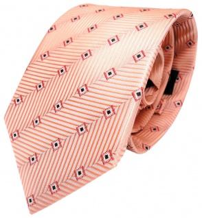Designer Krawatte orange rot silber schwarz Karomustern 100% Seide