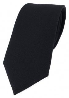 TigerTie Designer Krawatte in schwarz Uni mit aufgerauhter Oberfläche - Eisfond