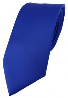 TigerTie Designer Krawatte dunkles royalblau einfarbig Uni - Tie Schlips