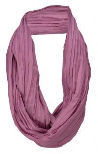 TigerTie Loop Schal in lila rotviolett einfarbig Uni - Schlauchschal Rundschal