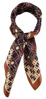 TigerTie Damen Nickituch Halstuch in violett braun beige rot gold gemustert