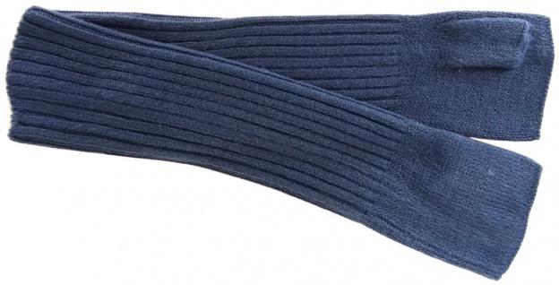 Strick Handstulpen Armstulpen in blaugrau Uni - fingerlose Handschuhe Gr. M - Vorschau