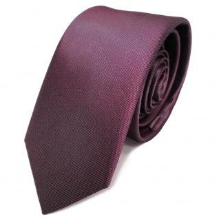 Schmale Designer Seidenkrawatte rot bordeaux oxidrot Uni - Krawatte Seide Silk
