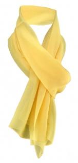 TigerTie Damen Chiffon Halstuch gelb Uni Gr. 160 cm x 36 cm - Schal