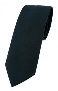 TigerTie Krawatte schwarz Unicolor einfarbig - Breite 7, 5 cm - 100% Baumwolle