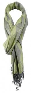 TigerTie Schal in grün grau gemustert - Schalgröße 180 x 50 cm