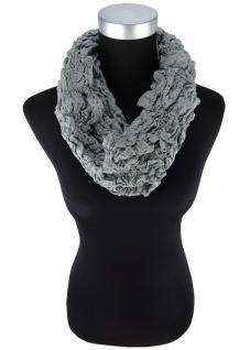 Loop Schal in olive einfarbig Uni - Style Knitterlook - Schlauchschal Rundschal