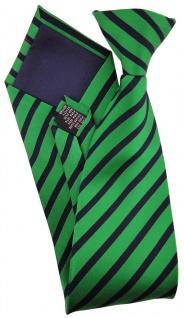 TigerTie - Service o. Security Clip Seidenkrawatte smaragdgrün schwarz gestreift - Vorschau 2