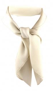 TigerTie Damen Chiffon Nickituch creme Gr. 50 cm x 50 cm - Tuch Halstuch Schal