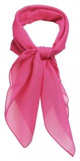 TigerTie Damen Chiffon Nickituch in pink einfarbig Uni - Gr. 58 cm x 58 cm - Vorschau