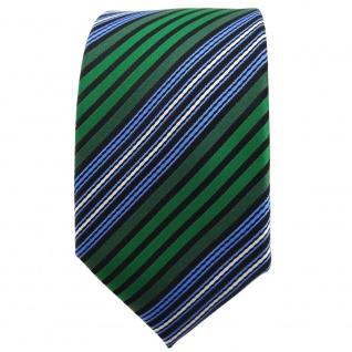 Schmale TigerTie Krawatte grün blau schwarz silber gestreift - Binder Tie - Vorschau 2