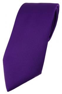 TigerTie Designer Krawatte in dunkellila einfarbig Uni - Tie Schlips