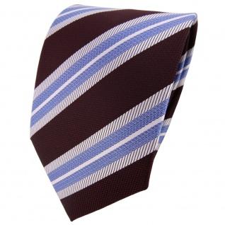 TigerTie Krawatte blau silber dunkelrot schwarzrot gestreift - Tie Binder